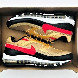 Nike Air Max 97/BW Metallic Gold Red Black